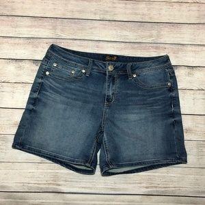 Seven7 Medium Wash Denim Shorts Size 12